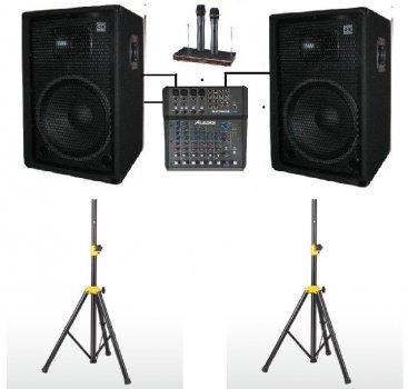 Комплект звукового оборудования Sound Division DJ15SA2-KAR-Al 700Вт