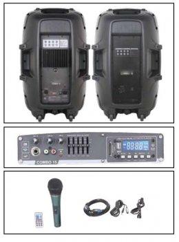 """Комплект звукового оборудования NGS PRORECK PARTY 15 2*15"""", 400W с микрофоном"""