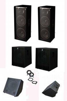 Комплект професійної акустики Sound Division Turbo3500+, 3500Втс моніторами, сабвуферами