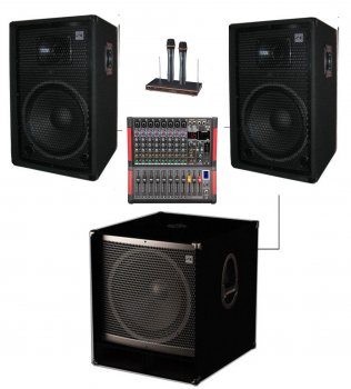 Комплект звукового обладнання Sound Division DJ15A2-Sub15+