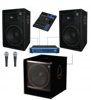 Комплект звукового обладнання Sound Division DJ15-102-Sub15+ 1000Вт