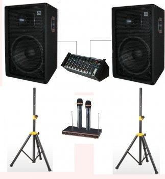 """Комплект звукового обладнання Sound Division DJ-15SA244+ 700Вт 15"""""""