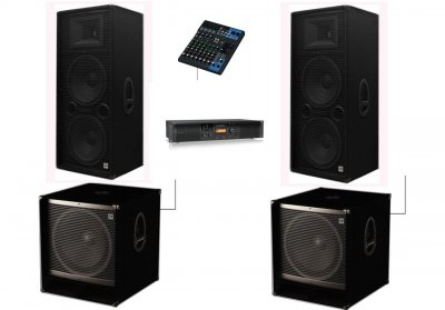 Потужний комплект професійної акустика для нічного клубу Sound Division Turbo5000 5000Вт