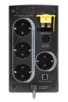 Блок безперебійного живлення APC Back-UPS 750VA, Schuko (BC750-RS)