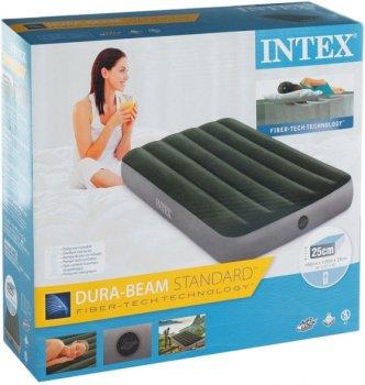 Надувной матрас Intex 64107 велюр 191х99х25 см