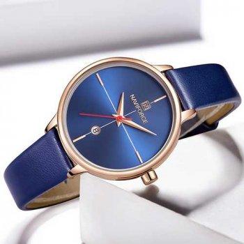 Наручний годинник AlexMosh жіночі Naviforce NF5006 Blue-Cuprum (6)