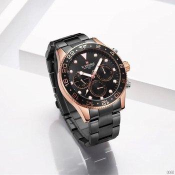 Наручний годинник AlexMosh чоловічі Naviforce NF9147 Black-Cuprum (72)