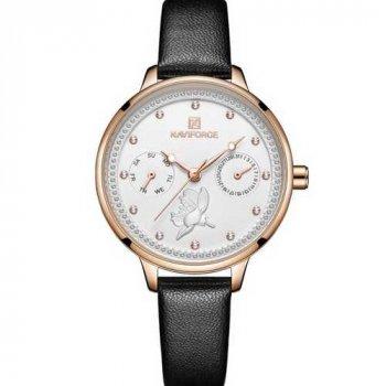 Наручний годинник AlexMosh жіночі Naviforce NF5003 Black-White-Cuprum (4)