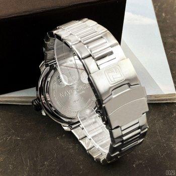 Наручний годинник AlexMosh чоловічі Naviforce NF9158 Silver-Black (43)