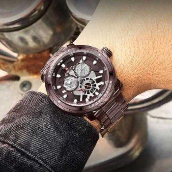 Наручний годинник AlexMosh чоловічі Naviforce NF9158 All Brown (45)