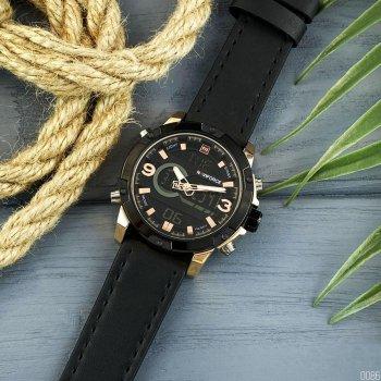 Наручний годинник AlexMosh чоловічі Naviforce NF9097 Black-Cuprum (12)