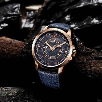 Наручний годинник AlexMosh чоловічі Naviforce NF9151 Blue-Cuprum (61)
