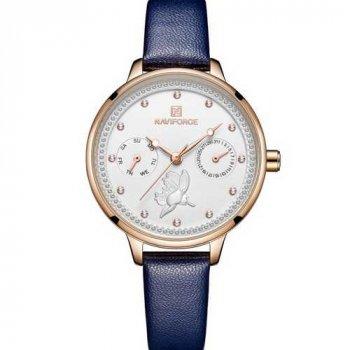 Наручний годинник AlexMosh жіночі Naviforce NF5003 Blue-White-Cuprum (5)