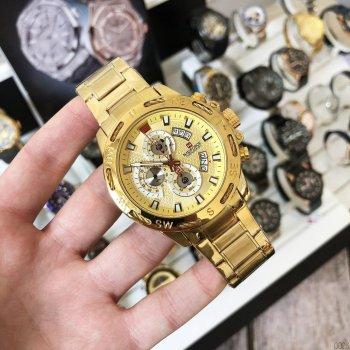 Наручний годинник AlexMosh чоловічі Naviforce NF9165 All Gold (32)