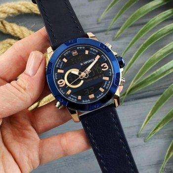 Наручний годинник AlexMosh чоловічі Naviforce NF9097 Blue-Cuprum (13)