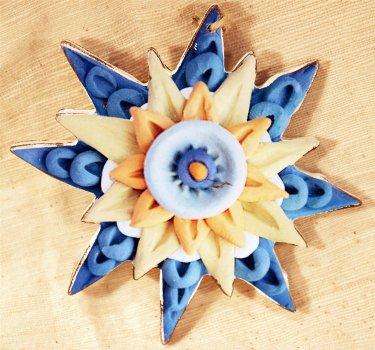 """Игрушка деревянная Scorpio Украинский """"Звезда синяя"""" (590421) (4820005904211)"""