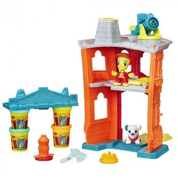 Набор с пластилином Play-Doh Town Пожарная станция (B3415)