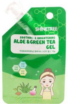 Гель для лица Shinetree Sqeeze&Go Успокаивающий с экстрактом алоэ и зеленого чая 12 г (8809120647995)