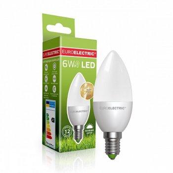 Світлодіодна лампа Euroelectric LED CL 6W E14 4000K (LED-CL-06144(EE))