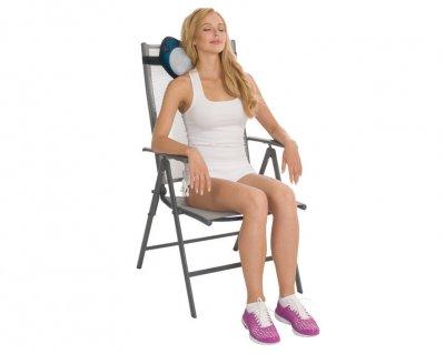 Массажная подушка Us Medica Apple для массажа шеи, спины и ног с подогревом Зеленый