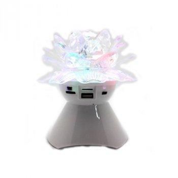 Портативная Bluetooth колонка NEEKA Glowing Crystals A19Mono White (A19WW)