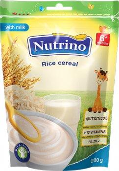 Упаковка молочної каші Nutrino Рисова з 6 місяців 200 г х 9 шт. (8606019657574)