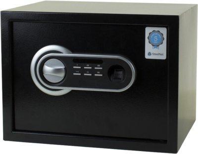 Сейф мебельный с биометрическим замком SteelNet SN-KS-26П-E-25SF Touch-9005