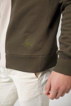 Чоловічий вишитий світшот Khaki+Beige UKRS-9918 UkrGlamour