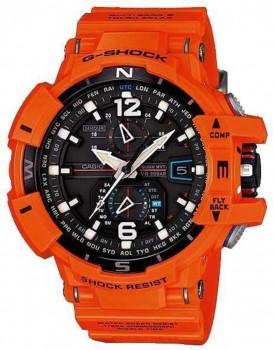 Мужские наручные часы CASIO GW-A1100R-4AER Оранжевый