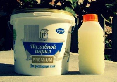 Наливний рідкий акрил PLASTALL Premium для реставрації ванн 1,7