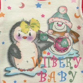 """Светр Wiibery """"Пінгвін"""" для дівчинки Червоний 12157"""