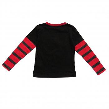 Лонгслив Mickey Mouse Disney для мальчика Черный с красным 5820