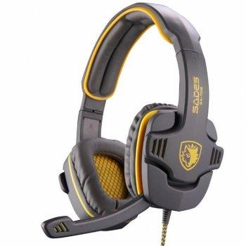 Навушники SADES Gpower Grey/Yellow (SA708-G-Y)