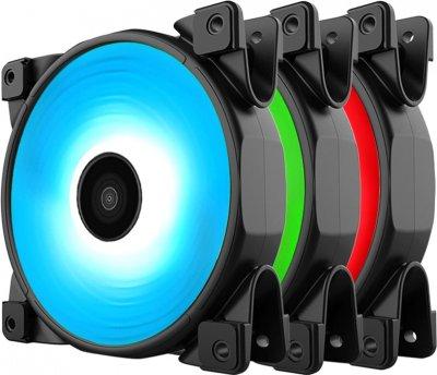 Набір PcCooler RGB-вентиляторів Halo 3-in-1 RGB KIT