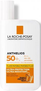 Солнцезащитный флюид ультралегкий La Roche-Posay Anthelios Ultralight Fluid SPF50+ для чувствительной кожи и кожи, склонной к солнечной не переносимости 50 мл (30162662)