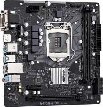 Материнська плата ASRock H410M-HDV R2.0 (s1200, Intel H410 PCI-Ex16)