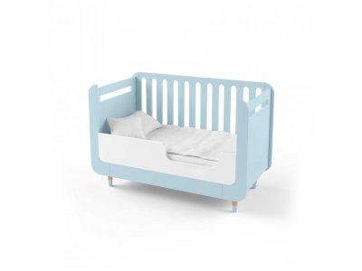 Кроватка-трансформер Indigo Wood для новорожденного Bubble Kit голубая (39689)