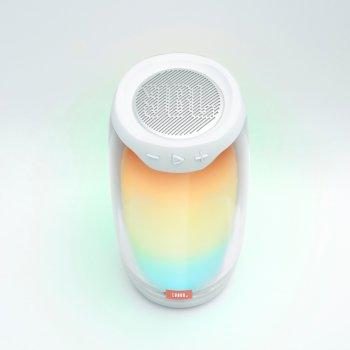 Портативна акустика з підсвічуванням JBL Pulse 4 White (JBLPULSE4WHT)