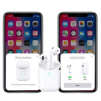 Навушники Hoco ES32 White with Wireless Charging Case Black (4197-01)