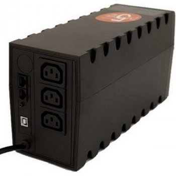 ДБЖ Powercom RPT-800AP, 3 x IEC, USB (00210196)