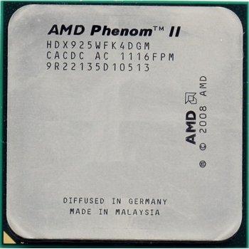 Процесор AMD Phenom II X4 925 2.8 GHz sAM2+/AM3
