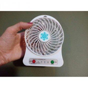 Портативный мини вентилятор с аккумулятором и USB Спартак mini fan MAX Белый (3288)