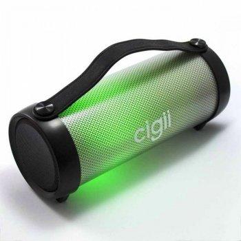 Портативная переносная Bluetooth колонка с разноцветной подсветкой Cigii RX33D LED Pulse с функцией FM-радио. Черная