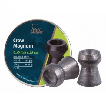 Пули пневм H&N Crow Magnum 6,35 mm , 1,7 г, 150 шт/уп.