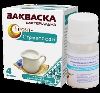 Закваска Ипровит-Стрептосан на 3 л молока