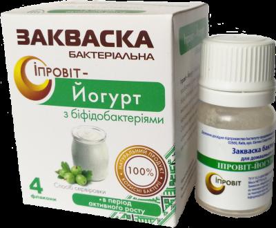 Закваска Ипровит-Йогурт с бифидобактериями на 3 л молока