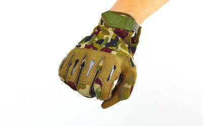 Перчатки тактические с закрытыми пальцами BLACKHAWK BC-4925 Камуфляж Woodland М (MR03950)