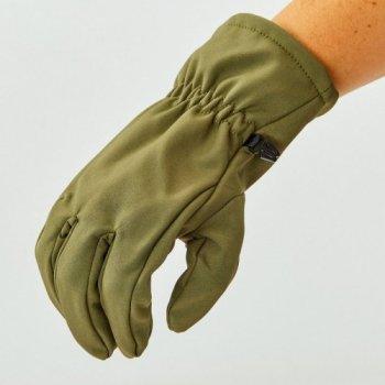Перчатки для охоты, рыбалки и туризма теплые флисовые TY-0354 Оливковый XL (MR03900)