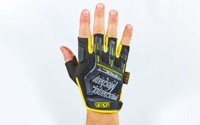 Перчатки тактические с открытыми пальцами MECHANIX BC-5628 Желтый-черный XL (MR03910)