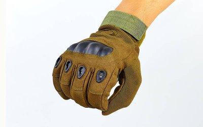 Перчатки тактические с закрытыми пальцами и усил. протектор OAKLEY BC-4623 Оливковый L (MR03922)